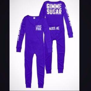 "💜 VS PINK ""Gimme Sugar"" Purple HTF RARE Onesie 💜"